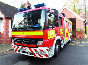 Firefighters called to 30ft blaze in Langley