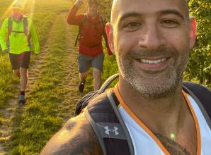 Simon puts in the hard yards to complete 40-day challenge for the NHS