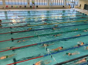 Maidenhead Marlins Swimming club members test the waters at Braywick Leisure Centre