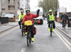 Mallett cycles to York Road and beyond to say 'thank you to football'