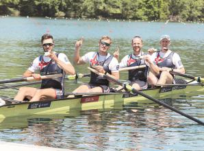 Gibbs and Cook help Great Britain men's four to European gold in Lucerne