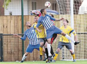Marlow United beat Flackwell Heath on penalties to advance in Floodlit Cup