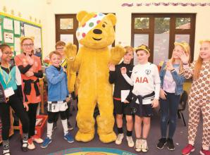 Pupils paid visit by Pudsey as they dress up for Children in Need