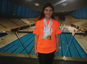Rhiannon Thomas  wins four gold medals after making a splash at schools gala