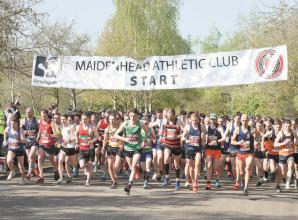 Maidenhead Athletic Club members donate Easter Ten race fees to charities
