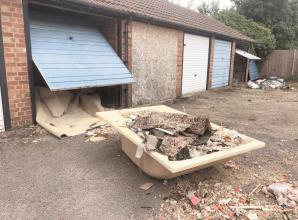 Burnham resident calls for  L&Q to take action over garages and flytipping in Grenville Close