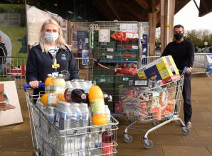 Taplow Tesco holds collection for Wexham Park Hospital