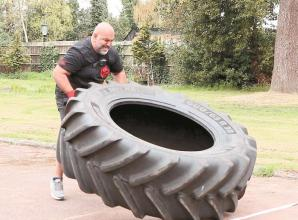 British Sumo Wrestling champion flips his way to unofficial fitness world record