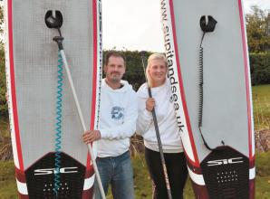 Paddleboarders complete 1,700km challenge across the UK